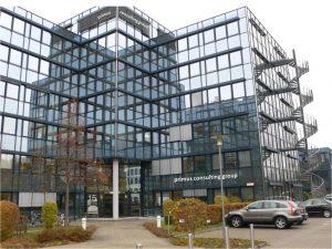 Ein Bild des Gebäudes der primus consulting group GmbH